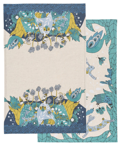Birdland Tea Towel, Set of 2