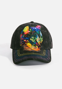Unisex Ball Cap, Mysterio Gaze Cat...by Dean Russo