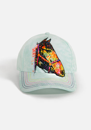 Unisex Ball Cap, Funky Horse by Dean Russo