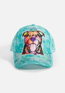 Unisex Ball Cap, Happiness is a Pit Bull Smile...by Dean Russo