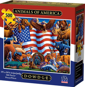 Animals of America Jigsaw Puzzle, 500 Pieces