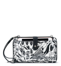 Black Peace Birds Large Smartphone Crossbody by Sakroots