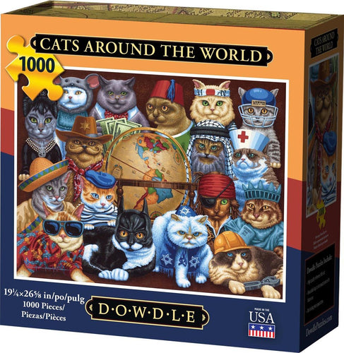 Cats Around the World, Jigsaw Puzzle, 1000 Pieces