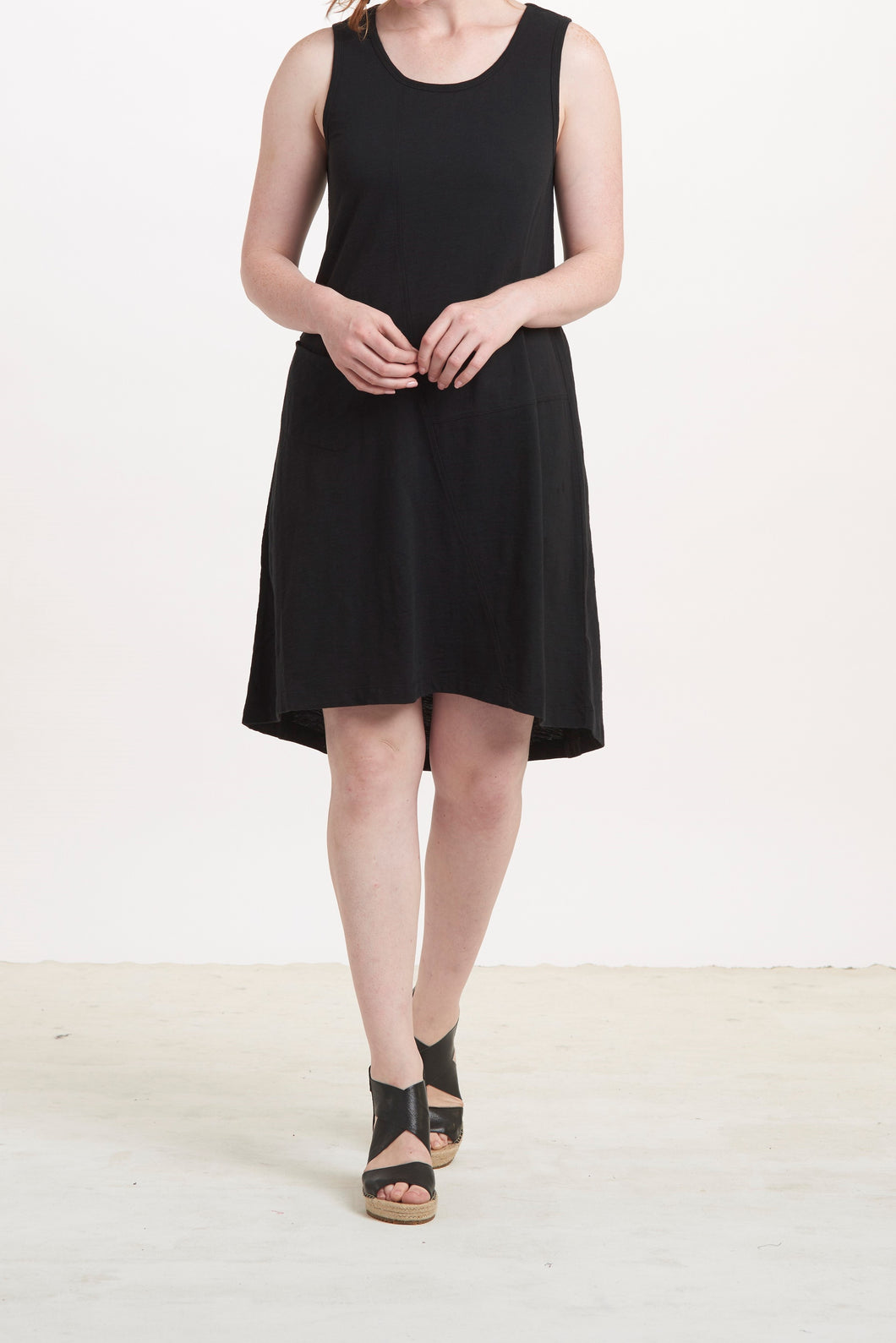 Cotton Pebble Swing Pocket Dress by Habitat