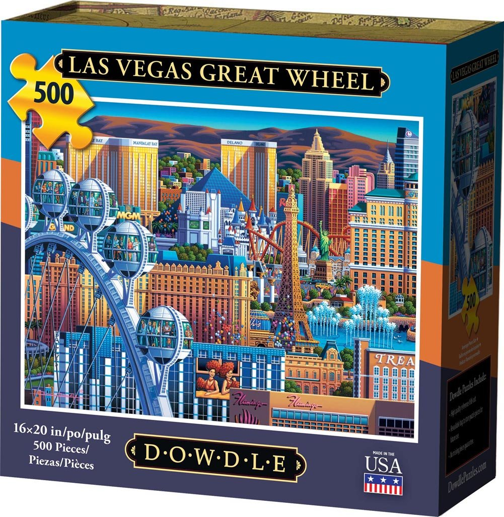 Las Vegas Great Wheel Jigsaw Puzzle, 500 Pieces