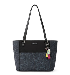 Black Tonal Spirit Desert Medium Tote by Sakroots