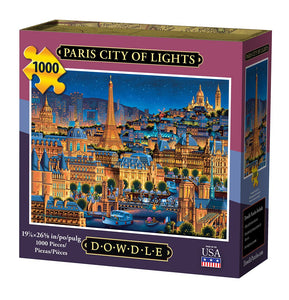 Paris, City of Lights, Jigsaw Puzzle, 1000 Pieces