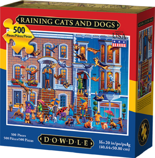 Raining Cats and Dogs Jigsaw Puzzle, 500 Pieces