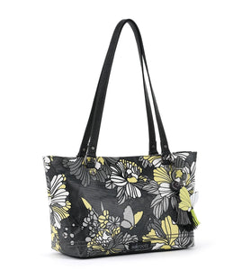 Slate Flower Blossoms Small Satchel by Sakroots