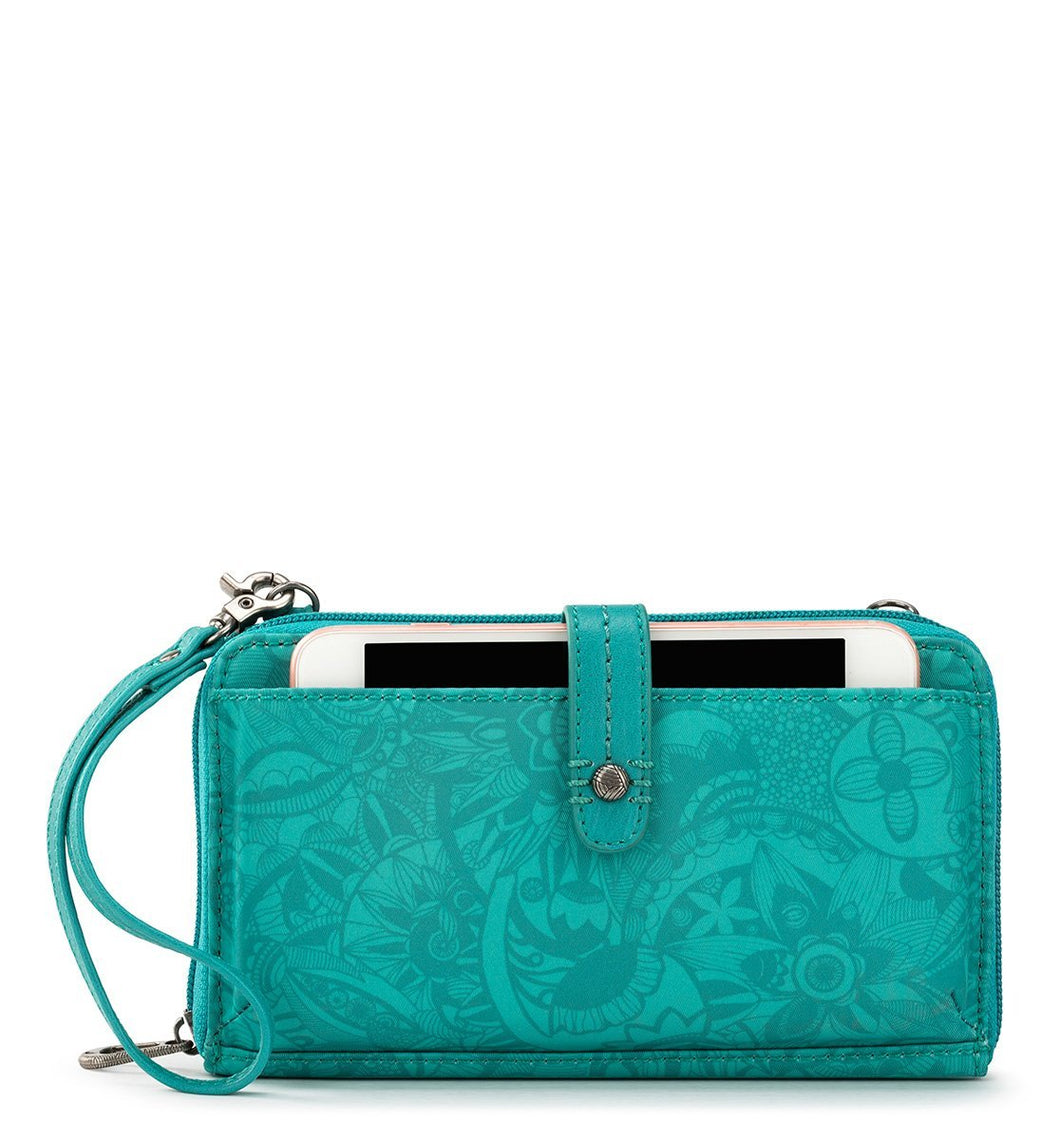 Turquoise Tonal Spirit Desert Large Smartphone Crossbody by Sakroots