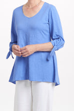 Cotton Pebble Tie Sleeve Tunic by Habitat