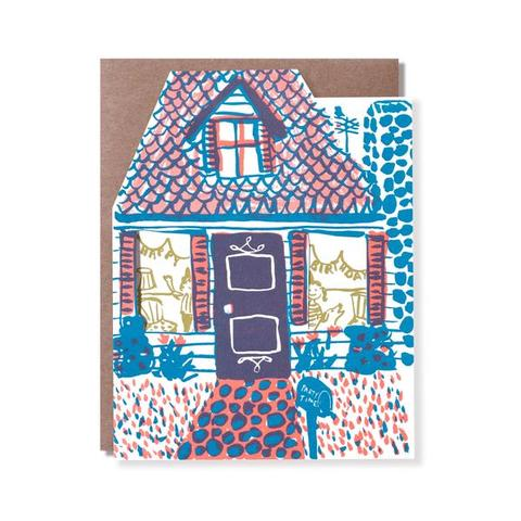 Happy Birthday Party House Cut Out Card