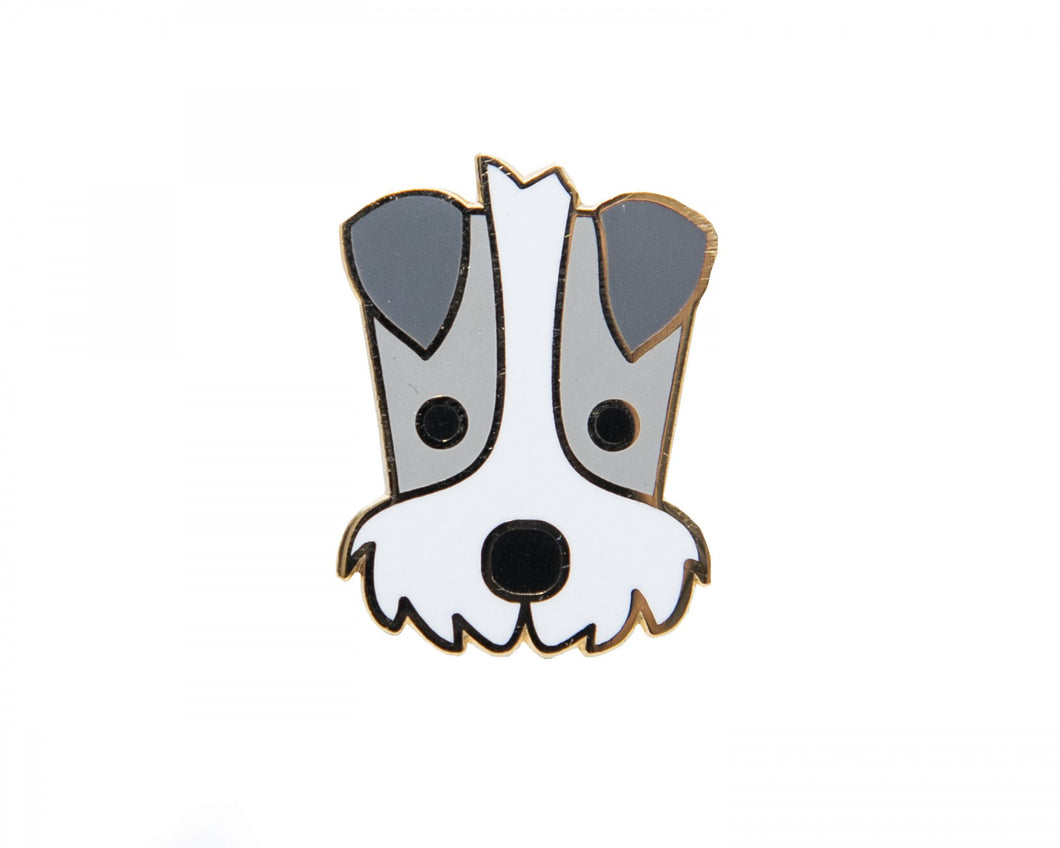 Schnauzer pin badge