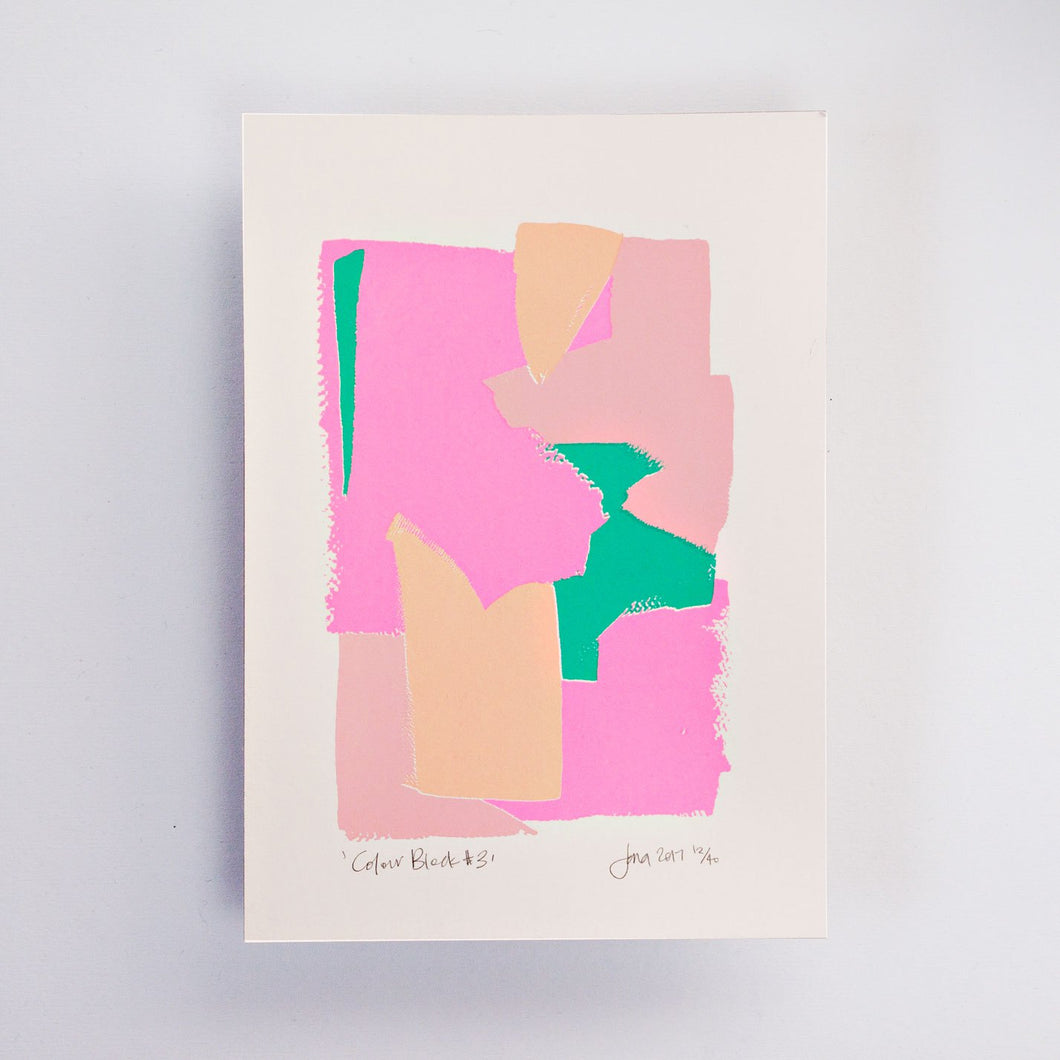 Colour Block #3 – Limited Edition Screen Print by the Completist