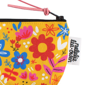 Yellow Fabric Coin Purse