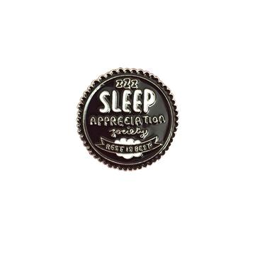 'Sleep Appreciation Society' pin