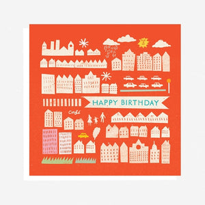 Red Happy Birthday Card