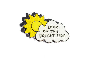 'Look on the Brightside' Enamel Pin