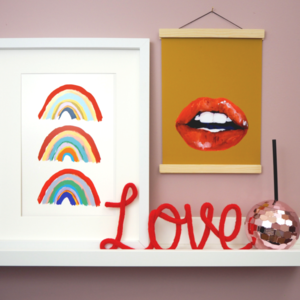 Trio of Rainbows Print