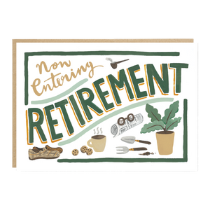 'now entering RETIREMENT' card