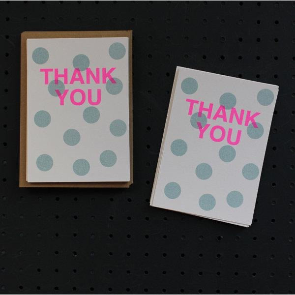 Thank You Card Pack - Teal Spot