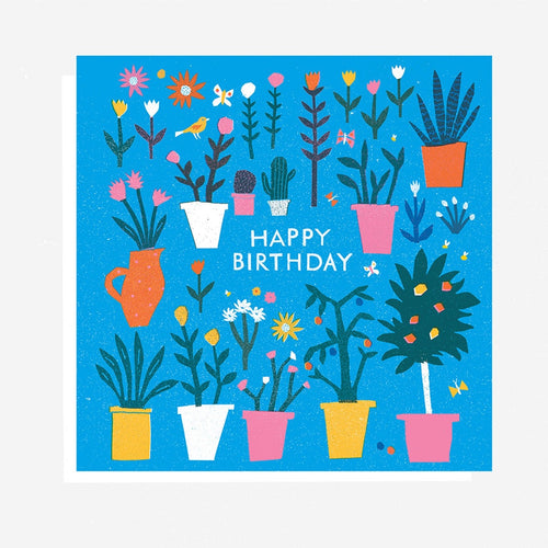 Happy Birthday Plants Card