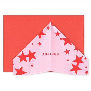 Paper Plane Card - Aim High