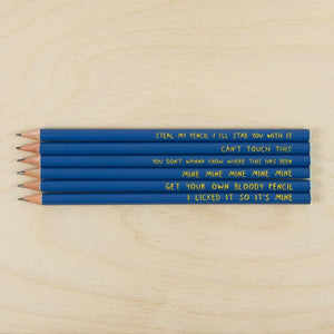 Sharp & Blunt Possessive Pencil Set