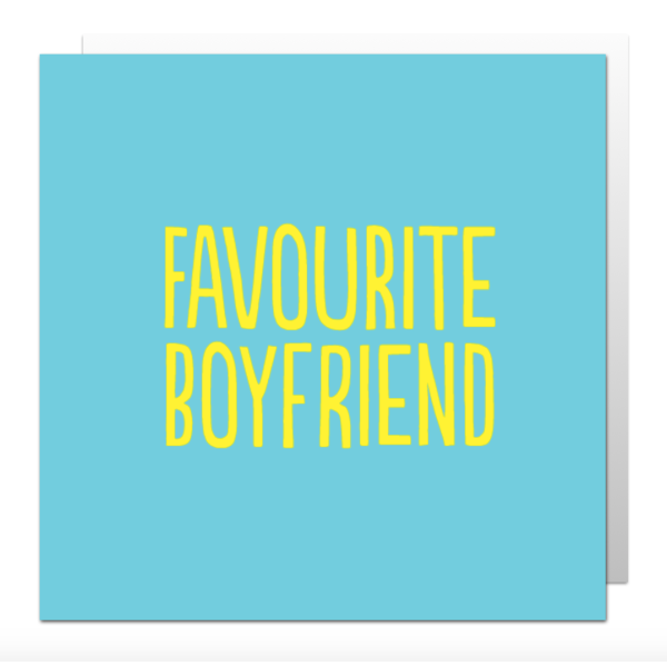 'Favourite Boyfriend' card