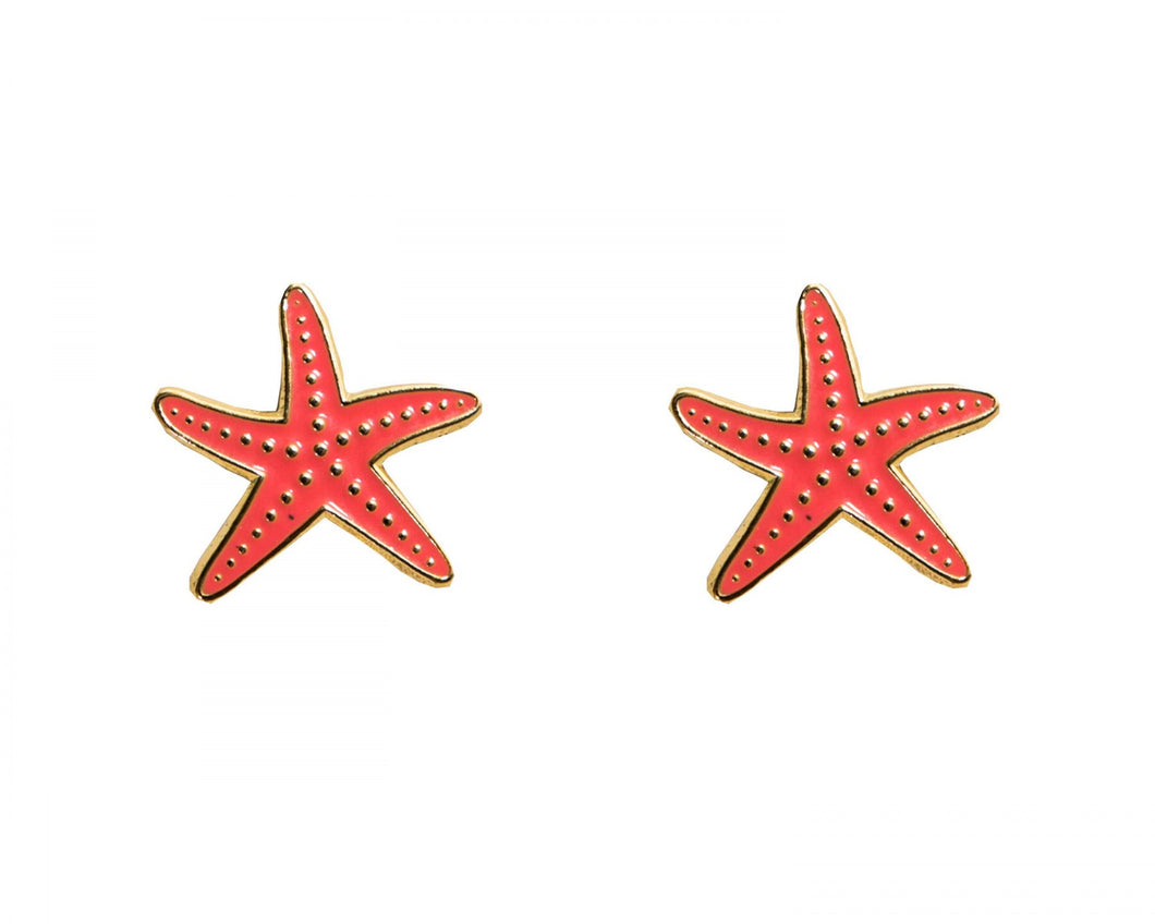 Starfish Enamel earrings