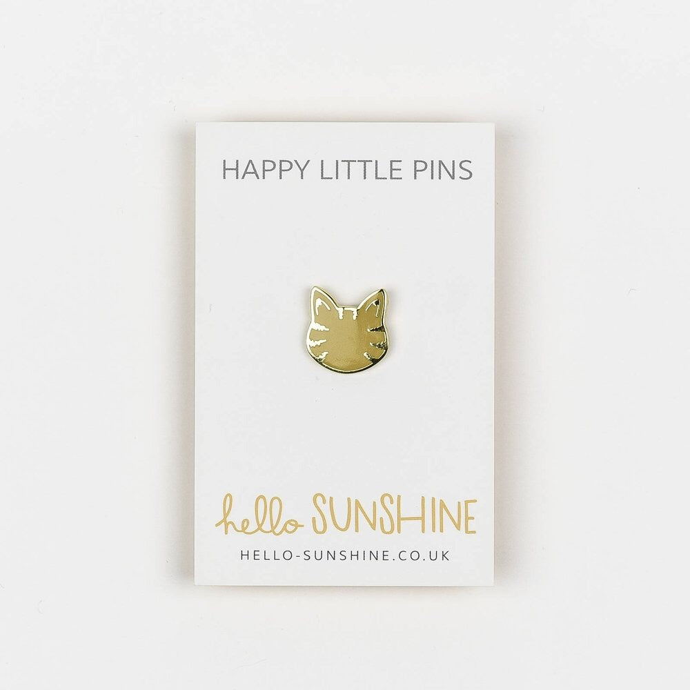 Brown Tabby Cat Pin