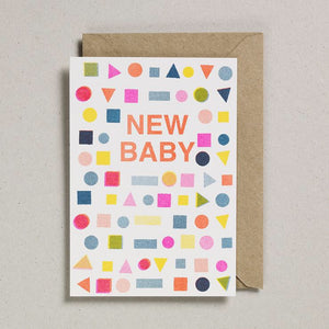 New Baby Mix Card - Riso Shapes