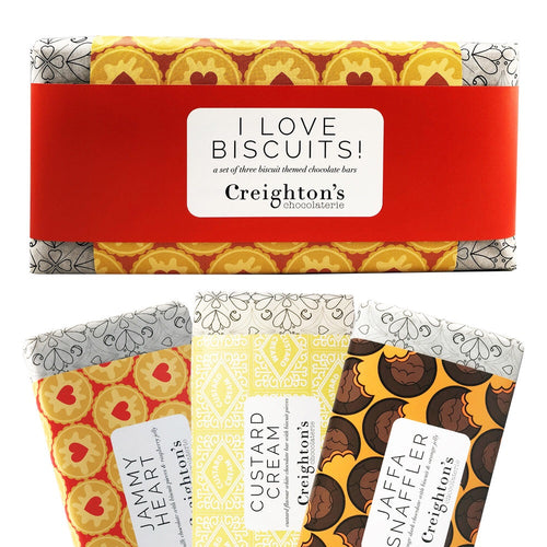 'I Love Biscuits' Creighton's Chocolate Bar Set