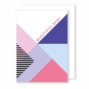 Beautiful Baby Card - Memphis