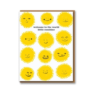 Welcome To The World Little Sunshine Card