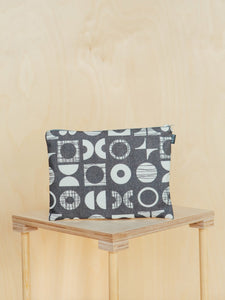 Large Patterned Canvas Pouch
