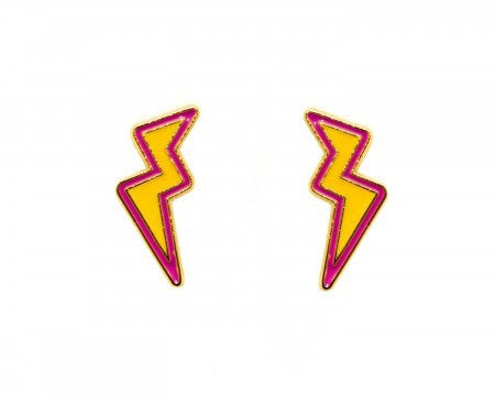 Lightening Enamel earrings