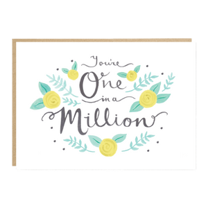 'You're one in a million' card