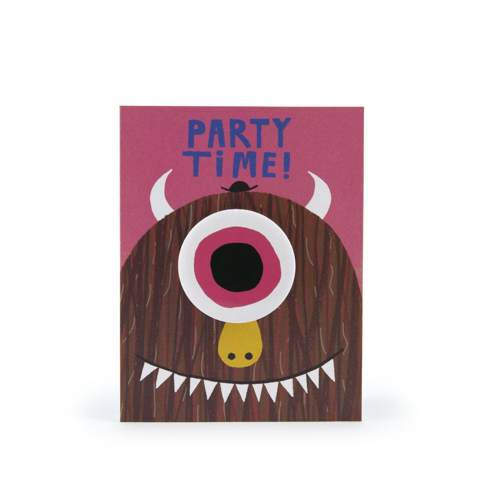 Monster Party Time Badge Card