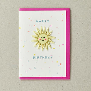 Sunshine Patch Birthday Card