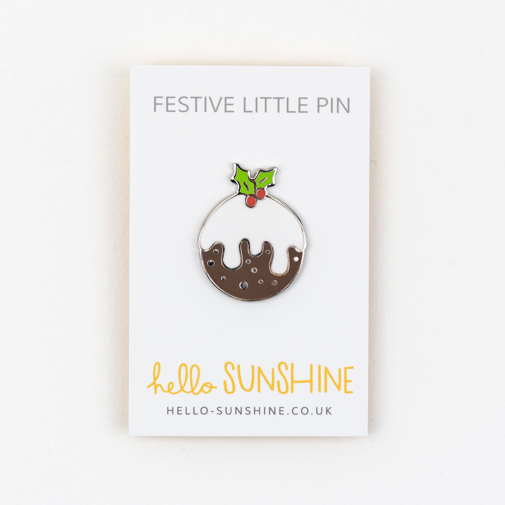 Christmas Pudding Pin