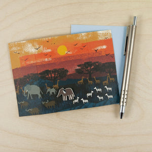 Elephant Pin Card