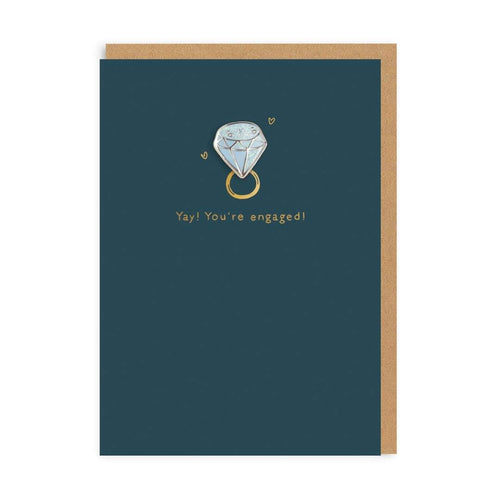 Yay! You're Engaged Pin Card