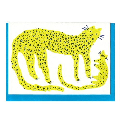 Leopard and Cub Card