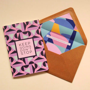 Keep going don't stop card