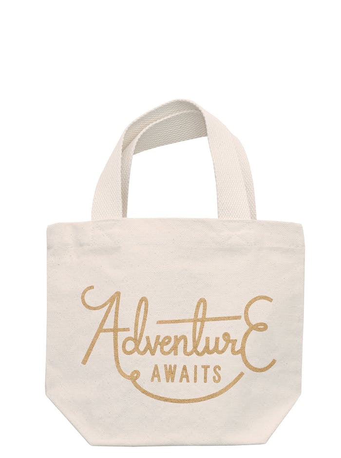 'Adventure Awaits' Mini Tote Bag
