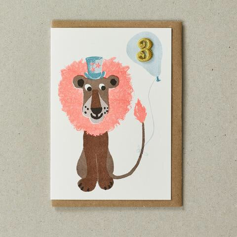 3 Party Lion Card