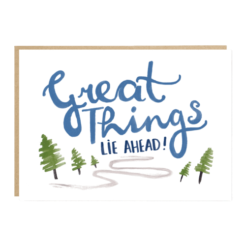 'Great Things lie ahead' card