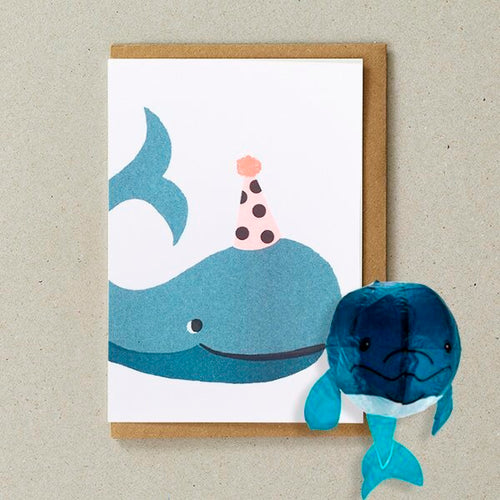Whale Japanese Paper Balloon Card