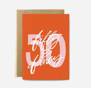 'Fifty & Fancy' card